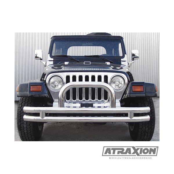 Jeep accessories 1540.11 Jeep Acc inox Californio front bumper 75mm for Wrangler YJ  (87-95)