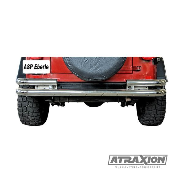 Jeep accessories 1541.03 Jeep Acc inox rear bumper protection double 75mm for Jeep CJ (76-86)