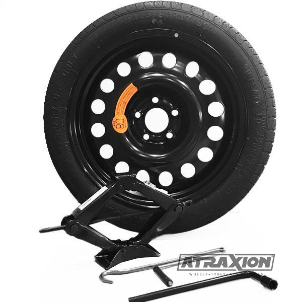 Sparewheel kit R112 Sparewheel kit  125/80-17 + steel wheel 4x17 5x114.3 CTR70.3 incl.jack P4 + key 17