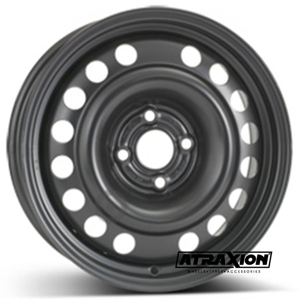 6x15 4x100 ET43 CTR56.5 Steel ALCAR OPEL MERIVA X01-MONO (Opel Meriva X01-Mono) Black 6435
