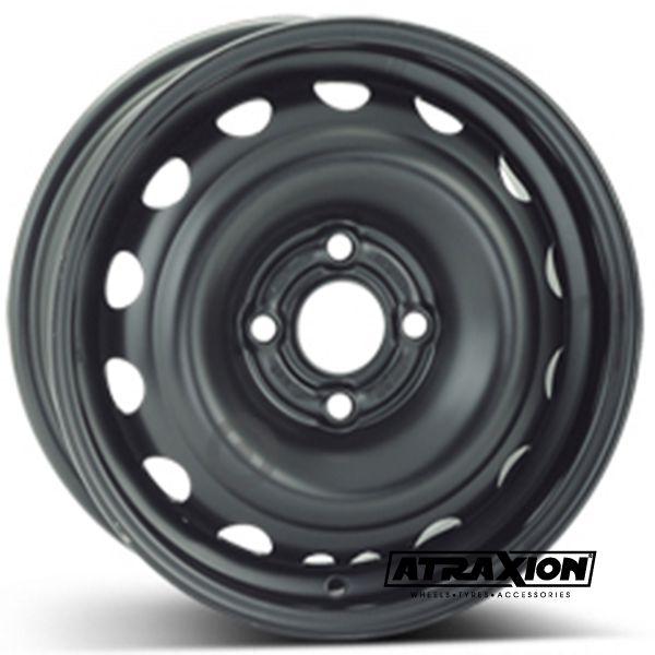 5.5x14 4x100 ET49 CTR56.5 Steel ALCAR OPEL CORSA C COMBO (Opel Corsa C Combo) Black 6480