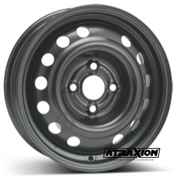 5.5x14 4x100 ET45 CTR56.5 Steel ALCAR DEAWOO KALOS KLAS (Deawoo Kalos Klas) Black 6565