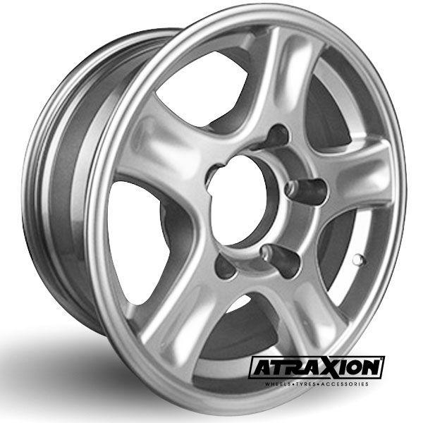 9x20 5x165.1 ET10 CTR117.1 Alu Manta (Arcasting) Silver incl & M16 nuts Caps