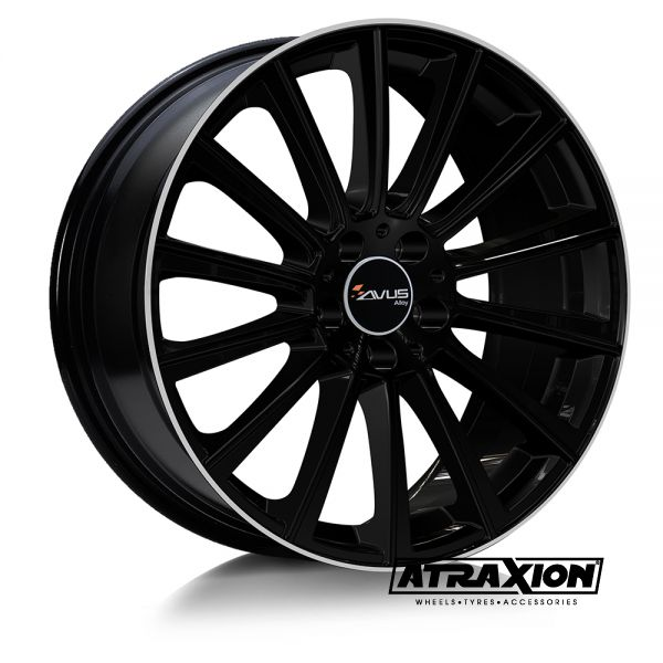9.5x20 5x112 ET35 CTR66.6 Alu Avus Ac-m07 Black Polished Lip M0709520511203566630