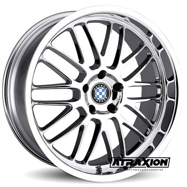 8.5x18 5x120 ET30 CTR72 Alu Mesh BM002 (Beyern) Chrome Lip Polished 1885BYM305120C72