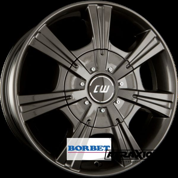 7.5x17 5x118 ET64 CTR71.1 Alu BORBET CH Mistral Anthracite Glossy 495712