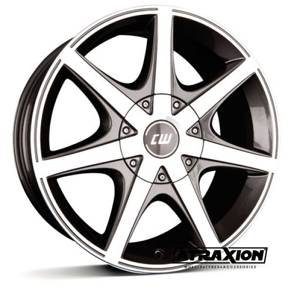 7x16 5x108 ET40 CTR63.3 Alu BORBET CWE Mistral Anthracite Glossy 495549
