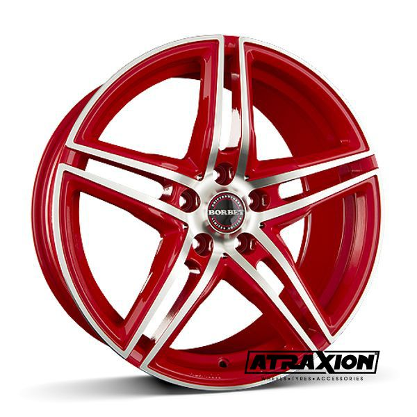 8.5x19 5x120 ET35 CTR72.5 Alu Xrt  (Borbet) Racetrack Red Polished 222044 (DED BMW)