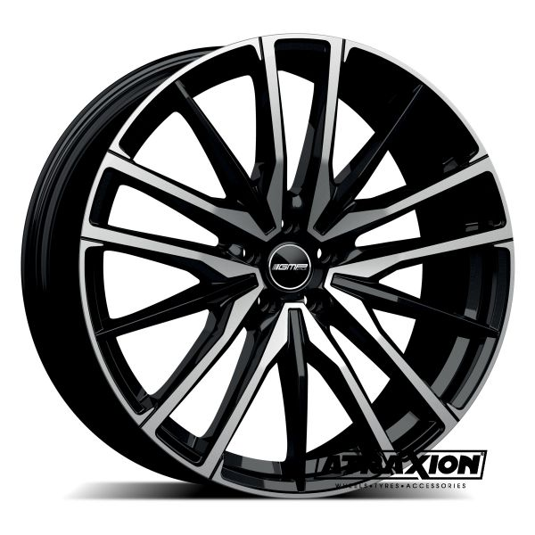 10.5x21 5x112 ET43 CTR66.6 Alu GMP Sparta Black polished (DED:BMW) 101098371