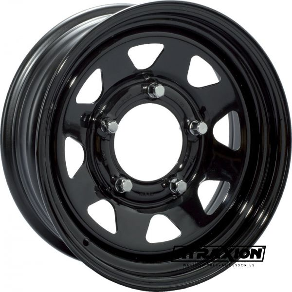 8x16 6x139.7 ET-25 CTR110 Steel 8 Spoke (Goss) Black RA340BK