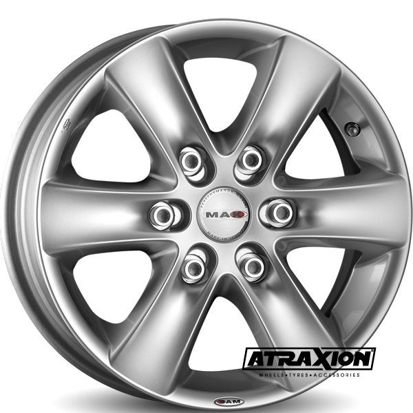 7.5x17 6x139.7 ET30 CTR106.1 Alu Sierra (OE NUTS) (Mak) Hyper Silver F7570SIS30VH2X