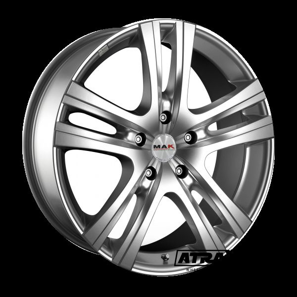 6.5x16 6x139.7 ET10 CTR107.6 Alu Aria  (Mak) Silver F6560ARSI10V1