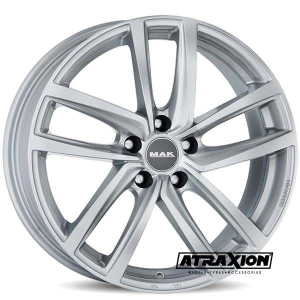 8x18 5x112 ET50 CTR57.1 Alu Mak Dresden Silver (DED:VW) F8080DDSI50VW4X