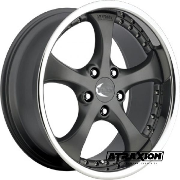 8.5x19 5x130 ET48 CTR71.6 Alu Formula Ii Mercury  (Techart) Anthracite Polished