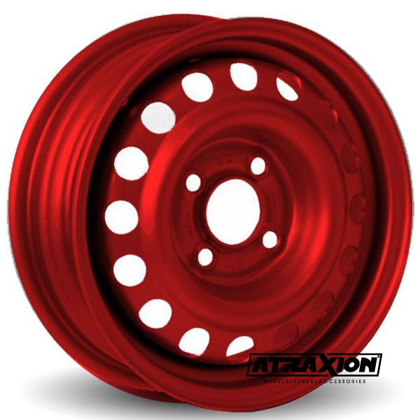 3x8 4x100 ET0 CTR60 Steel Trailer wheel PRINS (Prins) Red 158.800.080.000