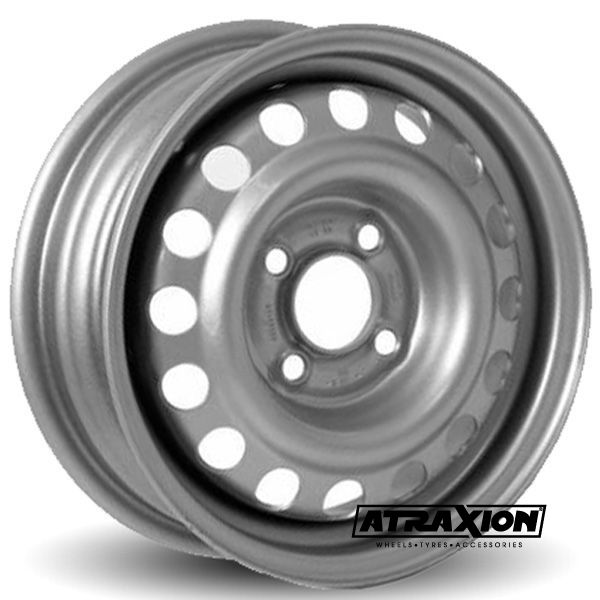 5.5x14 4x100 ET30 CTR57.1 Steel Prins (Trailer Wheel) Silver 158.140.008.000