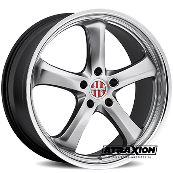 10x20 5x130 ET55 CTR71 Alu Turismo PO012 (Victor Equipment) Silver Lip Polished 2010VIT505130S71