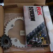 ATX Quad QU028 Replacement kit chain + 2 cogwheels for Honda TRX 450