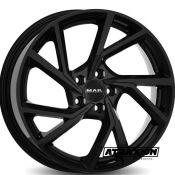 7.5x19 5x112 ET50 CTR57.1 Alu Mak Kassel Gloss Black (DED:Volkswagen ) F7590KAGB50VW2X