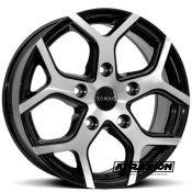 7.5x18 5x160 ET54 CTR65.1 Alu Romac Cobra Gloss Black Polished RMCOB H8665BMF