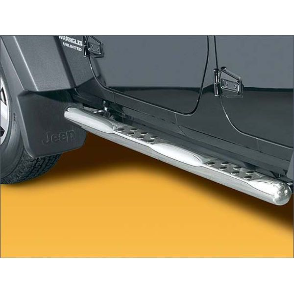 Antec 12C4050 Antec inox sidebar with steps 76mm for Wrangler (07-)  (3+5 doors!)