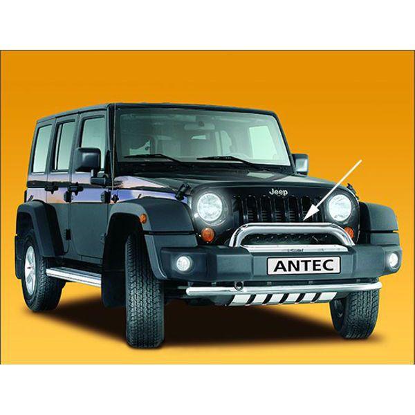 Antec 12C4113 Antec inox bullbar 70mm for Wrangler (07-) 3+5 doors-EU-cert.