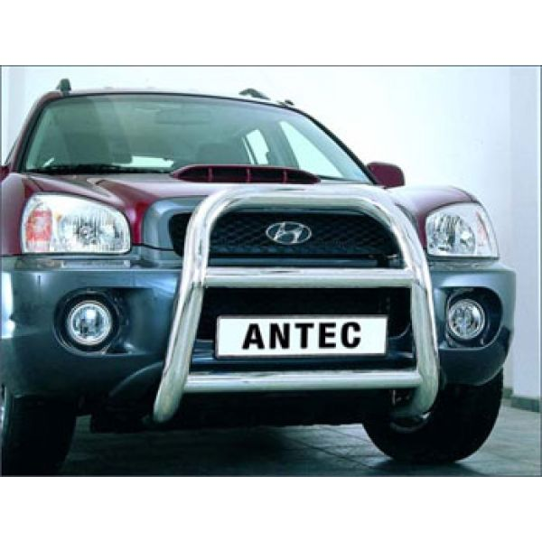 Antec 1744211 Antec inox bullbar 76mm for Santa Fe Clearance sales-no TUV-cert.