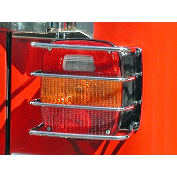 Jeep accessories Spares & acc.: 1556.10 taillight cover grill for Jeep Wrangler TJ 96-06  inox