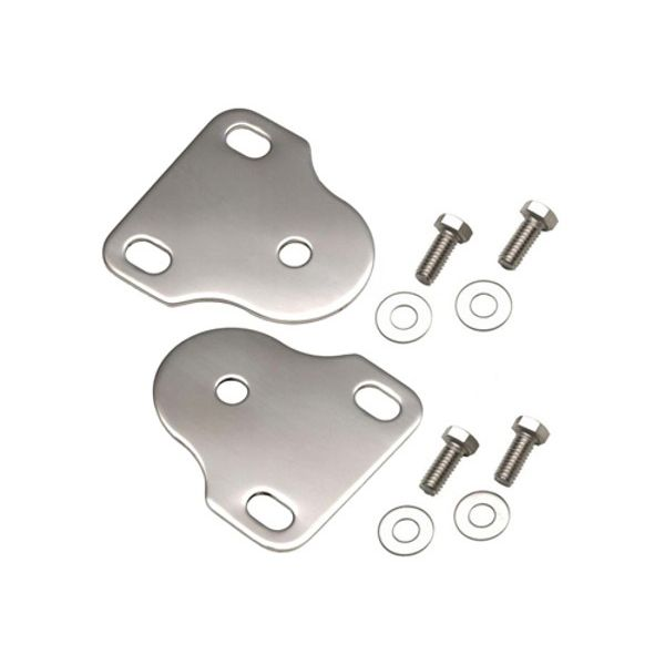 Jeep accessories Spares & acc.: 1560.01 windshield braket set for Jeep Wrangler YJ 87-95  inox