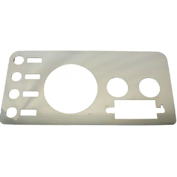 Jeep accessories Spares & acc. Jeep Acc 1563.01 gauge cover for Jeep CJ 76-86 inox