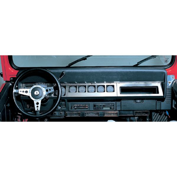 Jeep accessories Spares & acc. Jeep Acc 1565.10 dash overlay for Jeep Wrangler YJ 87-95 inox