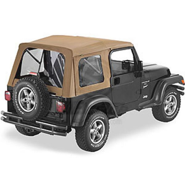 Bestop Supertop softtop in spice for Jeep Wrangler TJ (96-06)  (no sofftop doors)  (51709-37)