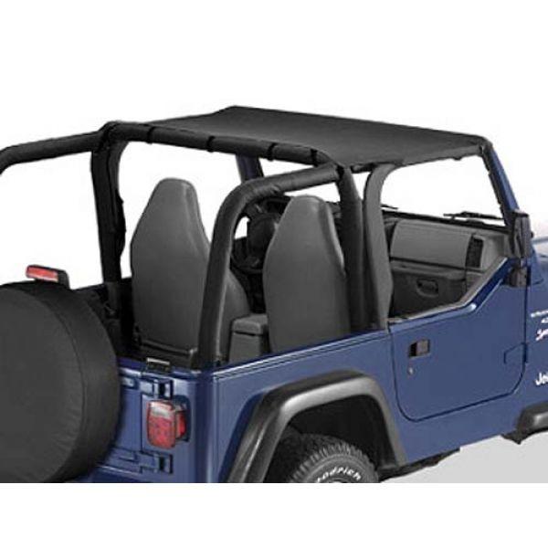 Bestop bikinitop in black denim for Jeep Wrangler TJ (96-02)  (strapless)  (52521-15)