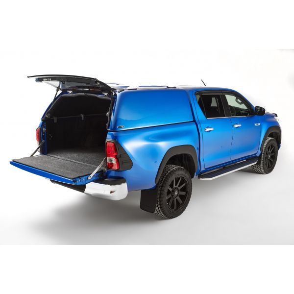Carryboy hardtop Carryboy Commercial for Toyota Hilux DC (16-) in color -no windows -no central locking