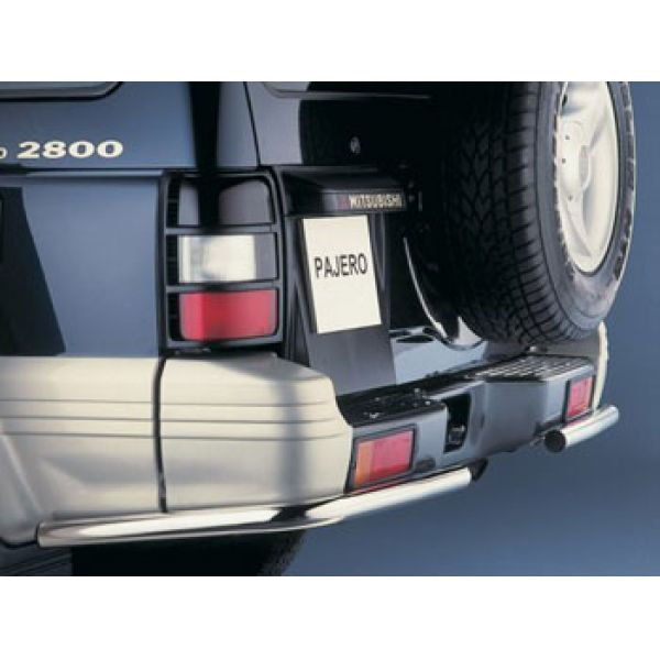 Cobra M2009 inox rear bumper protection (clearance sales) for Mitsubishi Pajero V20 LWB - Clearance s
