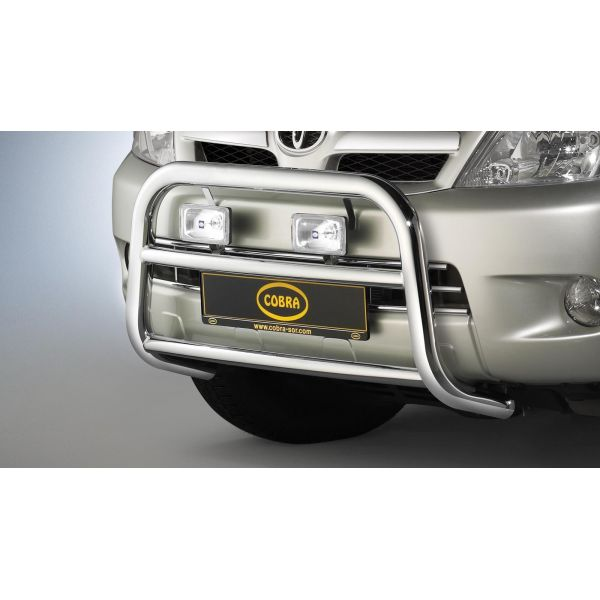Cobra TOY1401EC Cobra inox bullbar with crosspipe 60mm+42mm for Hilux (06-15) -EU-cert.