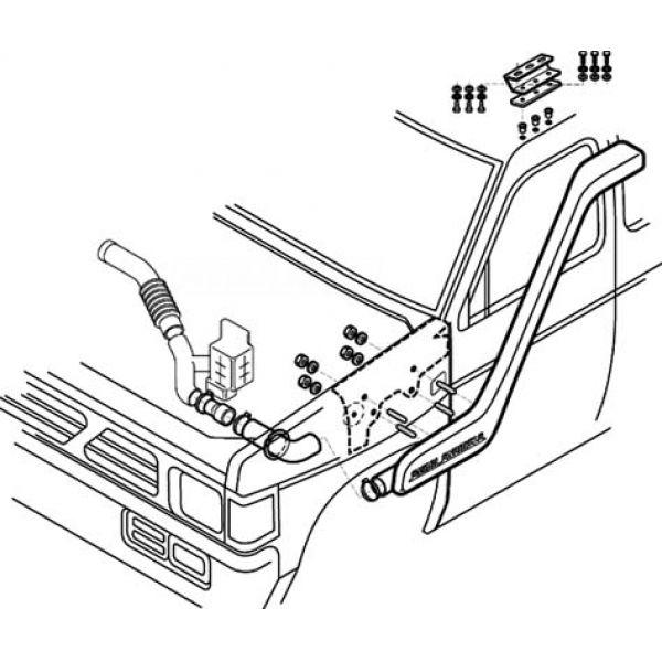 Safari SS700HF snorkel for Nissan D21 (92-06) 2.7L D