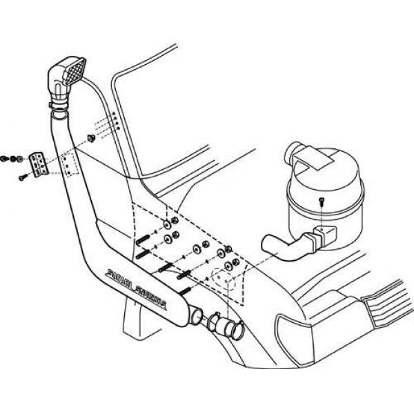 Safari SS185HF snorkel for Toyota LC 90series (97-02) 3.4L P