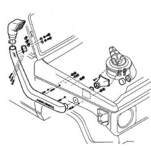 Safari SS75HF snorkel for Toyota LC 7series (85-07) 4.0L P& 4.0L D