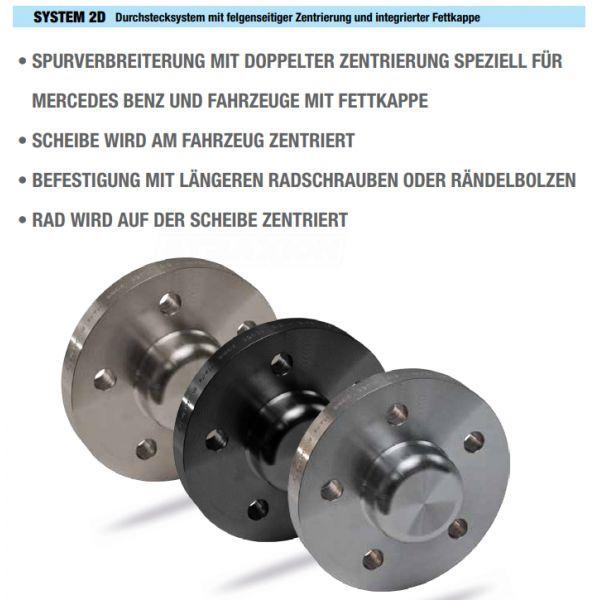 SCC 22626 Spacer SCC System2D 20mm 5x112 CTR66,6 5x112