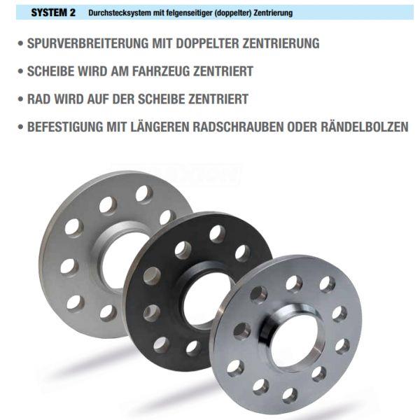 SCC 22675 Spacer SCC System2 15mm 4x100 CTR59,1 4x100 Thread:M12x1,25 Thread Rim:M12x1,25