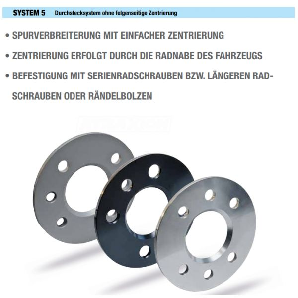 SCC 10084E Spacer SCC System5 15mm 4x108 CTR65,1