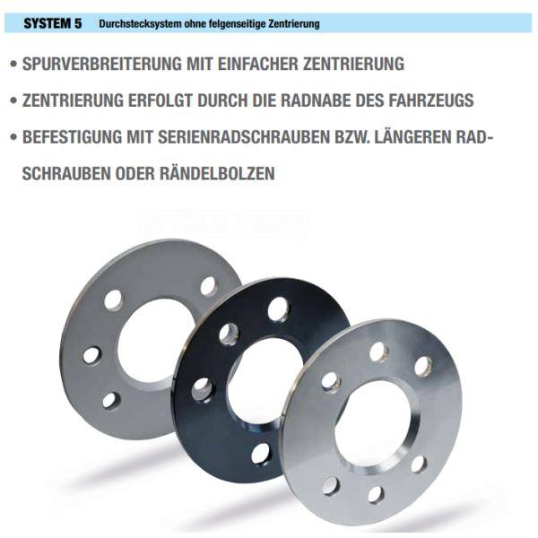 SCC 10221E Spacer SCC System5 5mm 4x100 CTR60,1 4x114,3