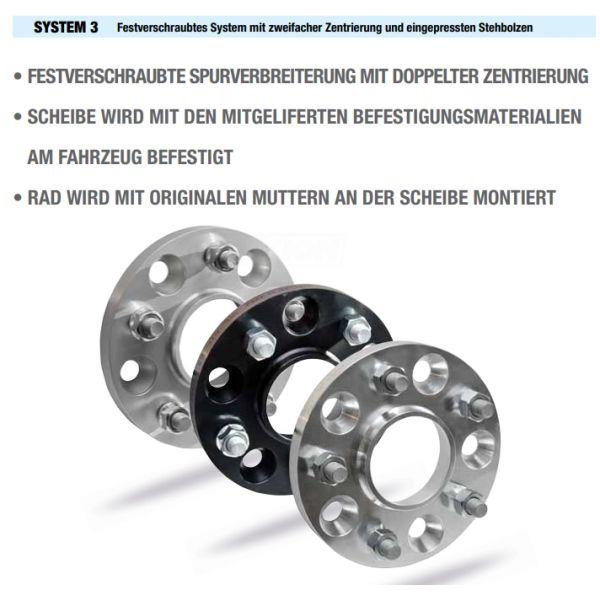 SCC 11266S3 Spacer SCC System3 15mm 5x100 CTR54,1 5x120 Thread:M12x1,5 Thread Rim:M12x1,5