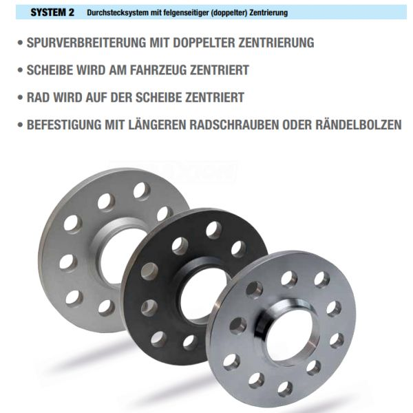SCC 12024E Spacer SCC System2 14mm 5x108 CTR65,1 5x110