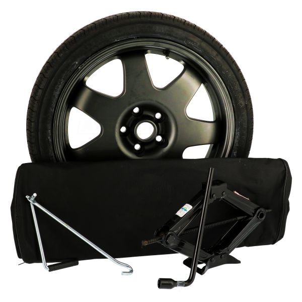 Sparewheel kit R602D Sparewheel kit  125/70-18 + alu wheel 4x18 5x112 CTR66.6 incl.jack P4 + key 17