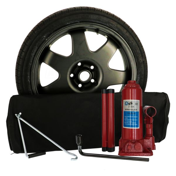 Sparewheel kit R607D Sparewheel kit  155/85-18 + alu wheel 4x18 5x108 CTR63.4 incl.jack B3 + key 19