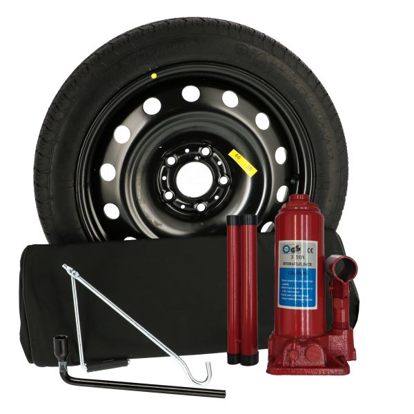 Sparewheel kit R420 Sparewheel kit  155/90-17 + steel wheel 4x17 5x108 CTR65.1 incl.jack B3 + key 19