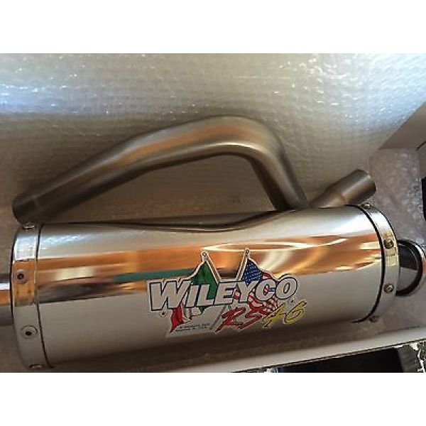 Wileyco WCPG3SS/HOM Wileyco Silencer Single Muffler Plus Oval Hom E3 Alu for PGO Bugracer 500