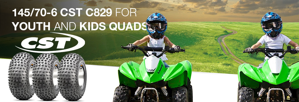 145/70-6 CST C829 for youth and kids quads!